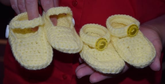 Cindy O'Neill – One Stitch at a Time – Knitted Baby Shoes